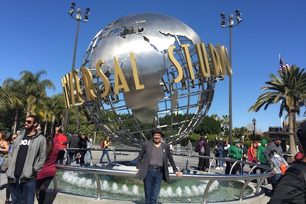 Rev. Tony at Universal Studios