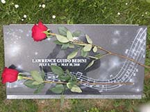 Rev. Larry's Grave Marker