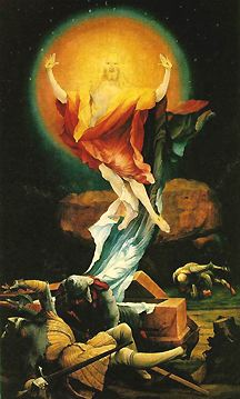 Resurrection by M. Grunewald, 1515