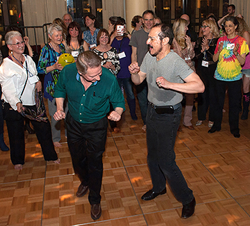 Jon Mundy and Rev. Tony in a 'Dance Off'