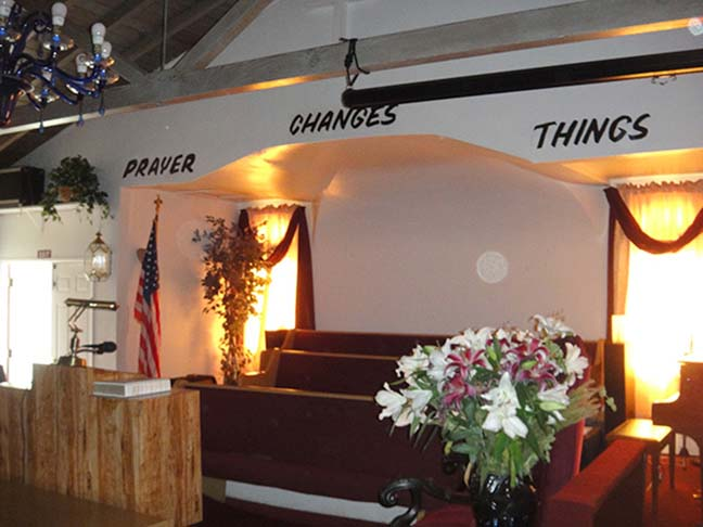 Interior Heavenly Vision Church in Christ