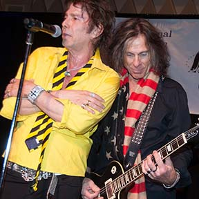 Rev. Rudy Colombini and Kevin Russell of the Unauthorized Rolling Stones